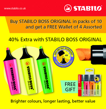Get 40% extra with Stabilo Boss original